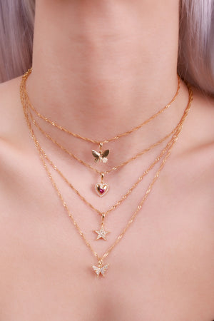Butterfly Shine Choker-Chvker Jewelry
