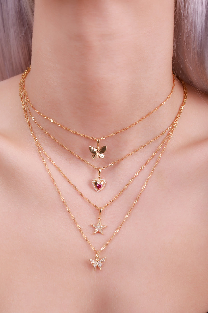 Butterfly Shine Choker