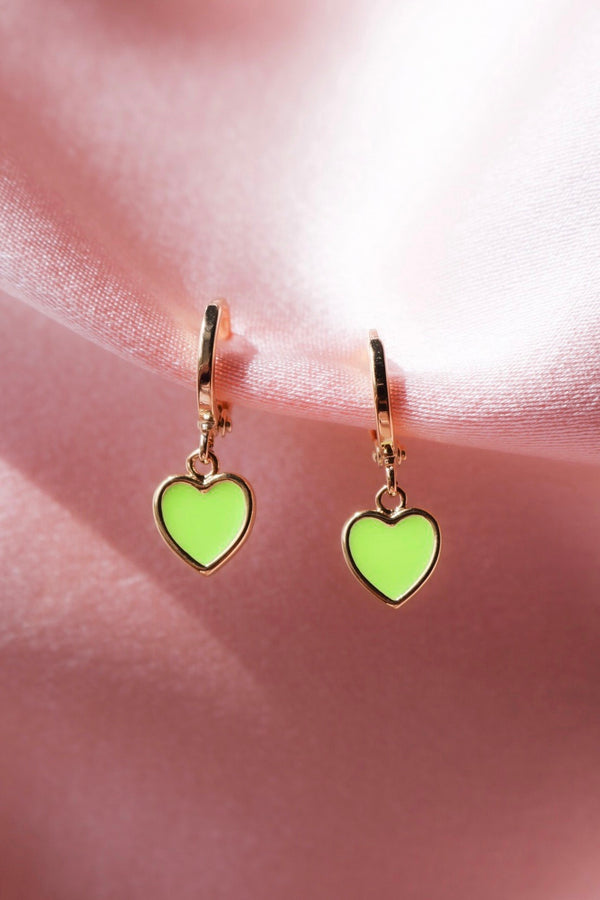 Neon Heart Earrings
