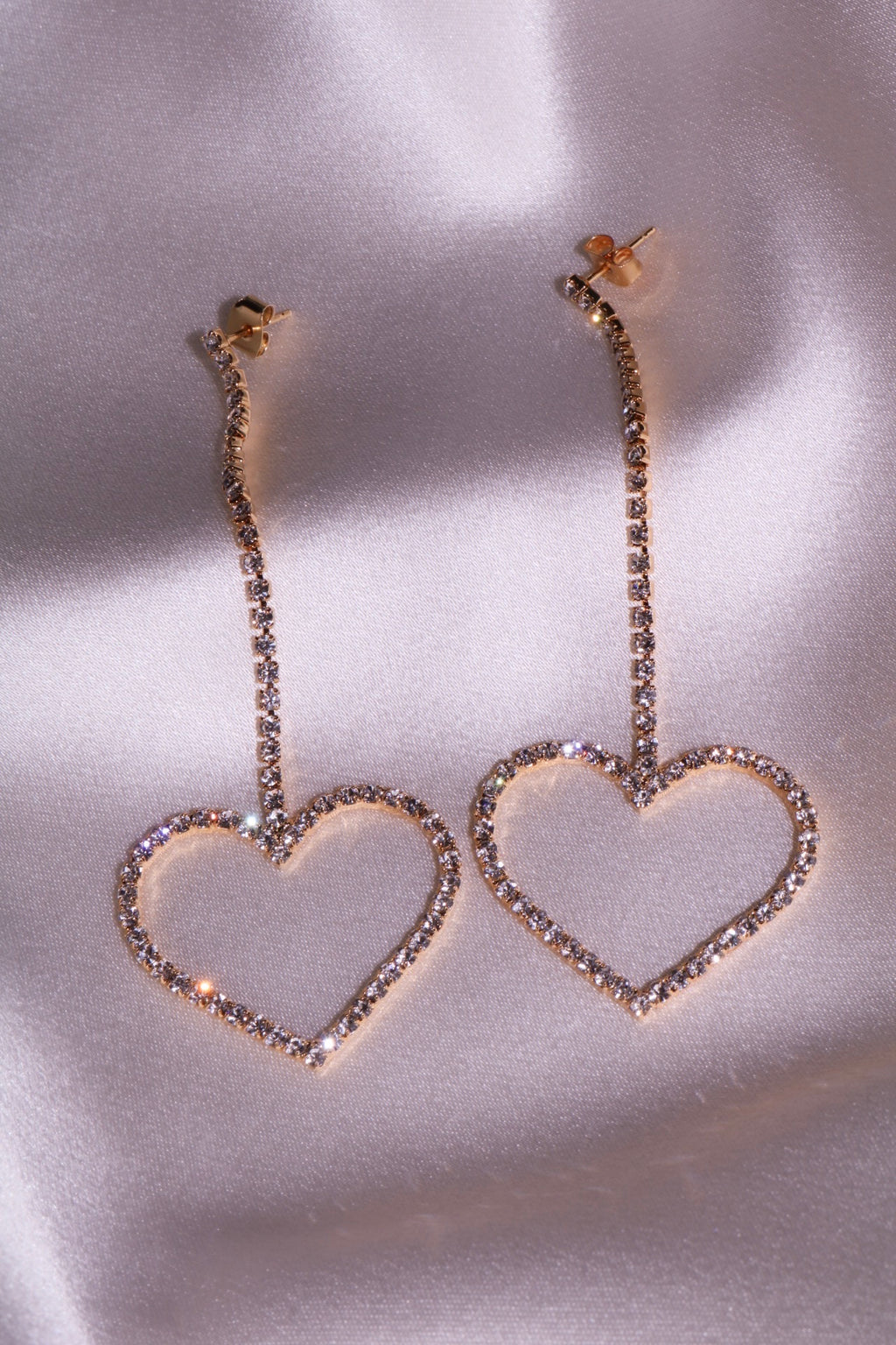 Lust For Life Heart Duster Earrings-Chvker Jewelry