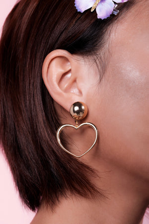 Empress Heart Earrings-Chvker Jewelry