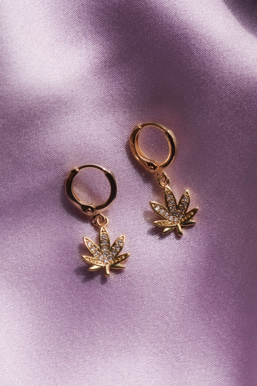 Gold Filled Leaf Earrings