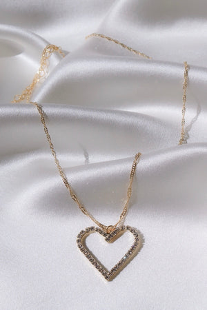 Heart Of Diamonds Necklace