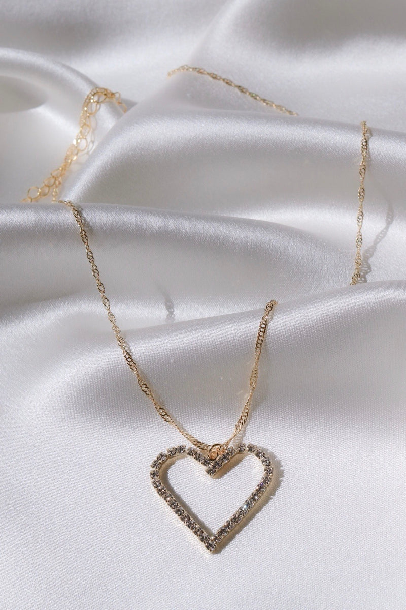 Heart Of Diamonds Necklace-Chvker Jewelry