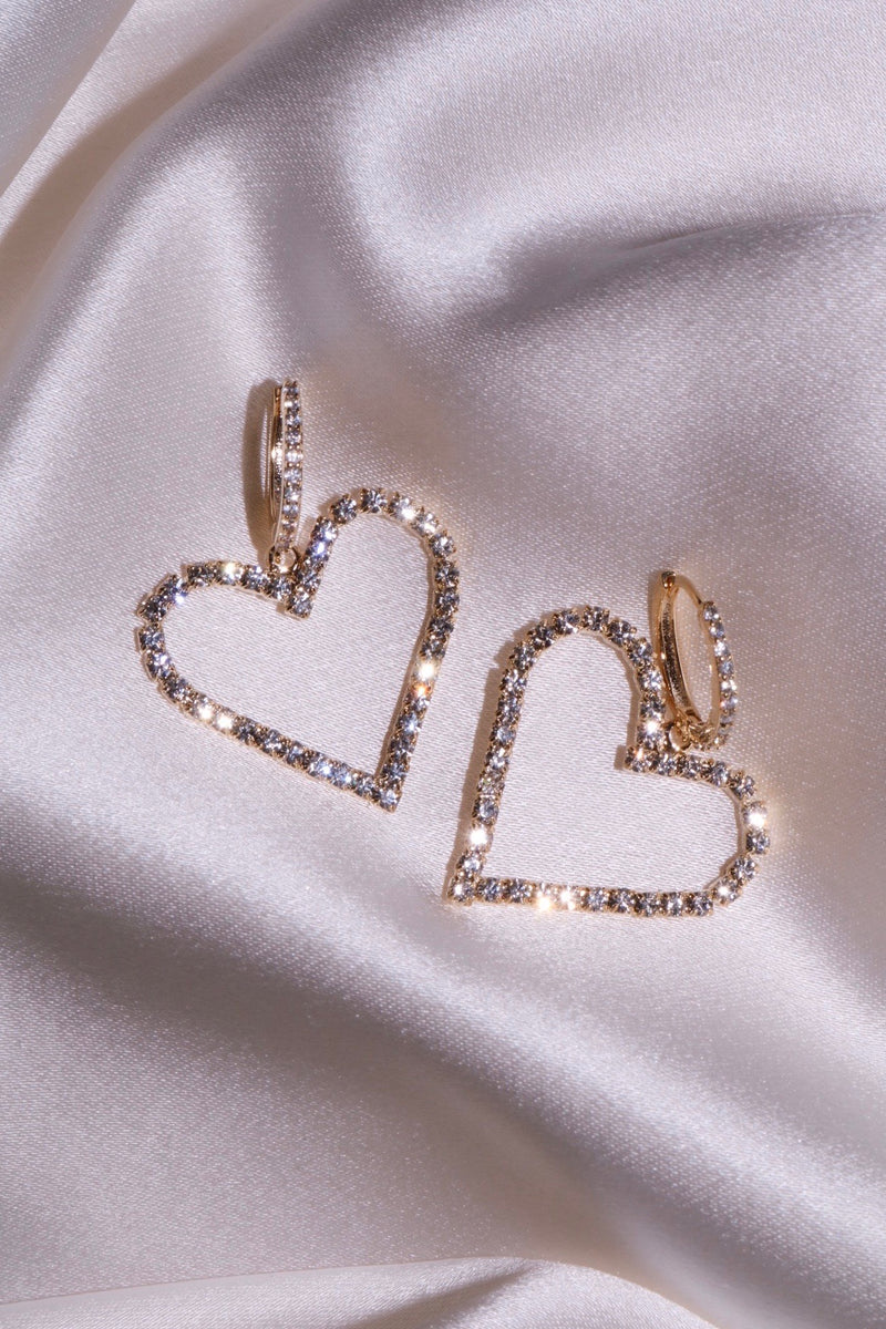 Heart Of Diamonds Earrings