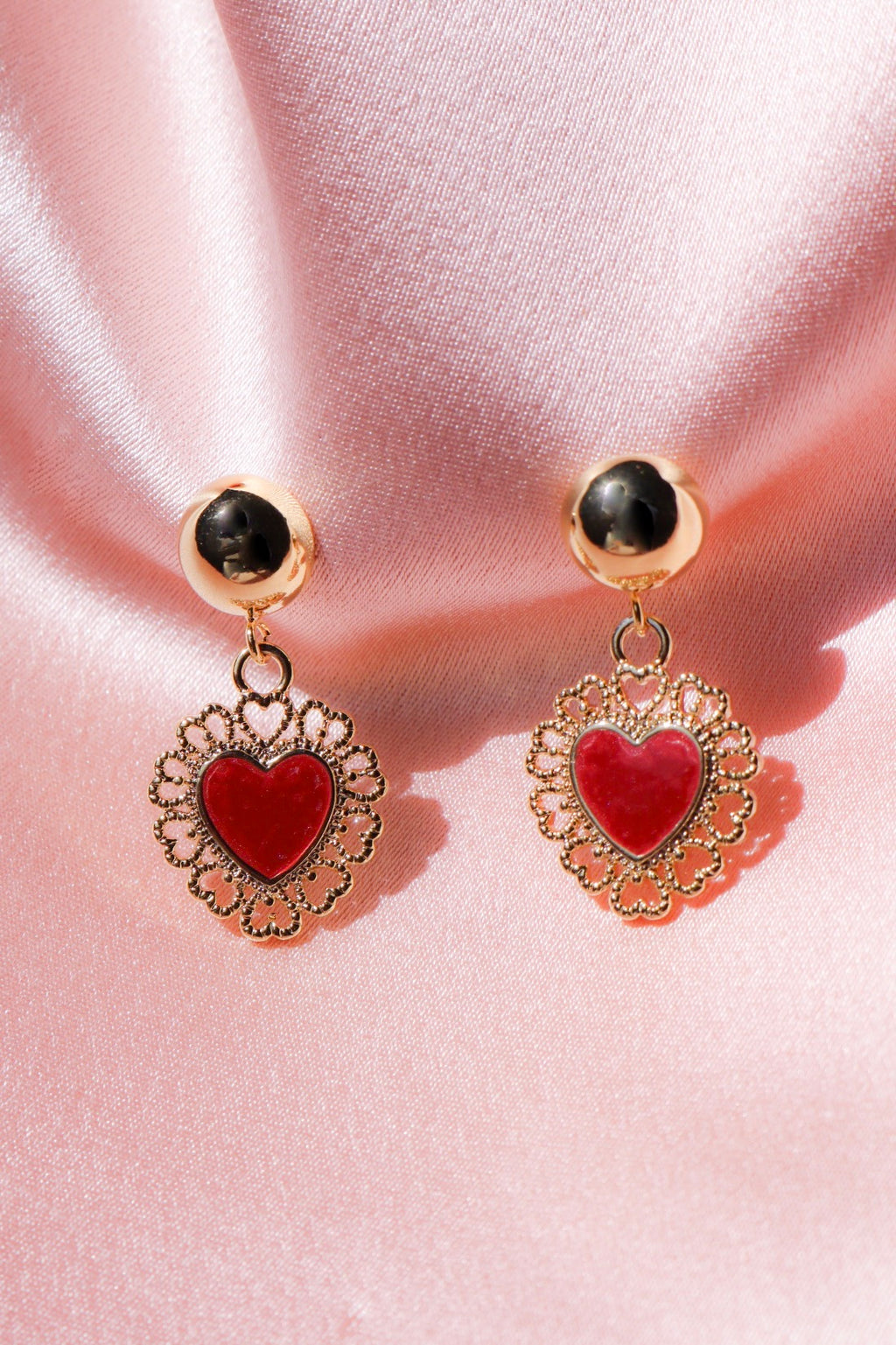 Red Queen Stud Earrings-Chvker Jewelry