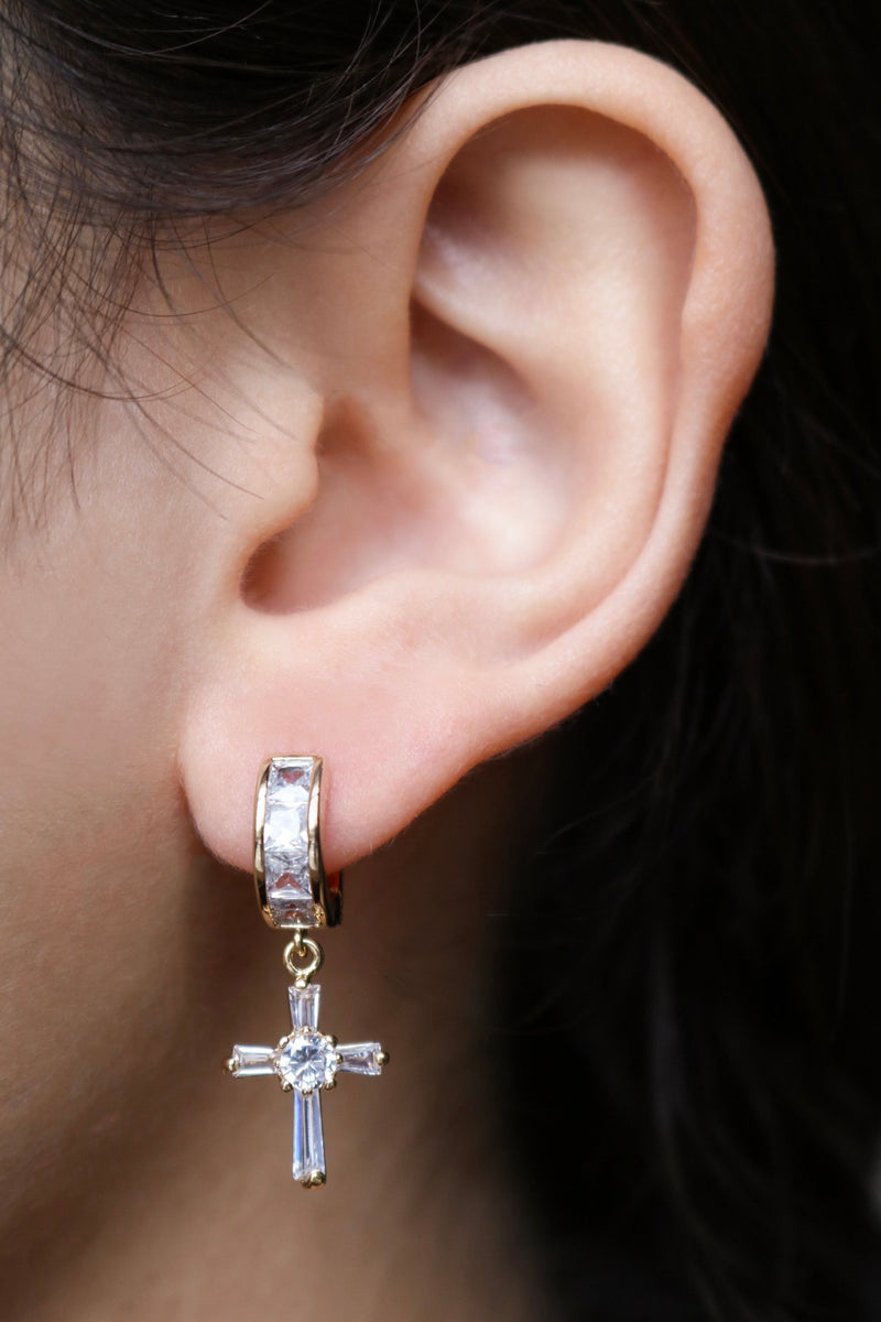 Vatican Cross Earrings