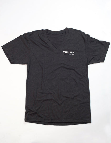 Trump Campaign Women's V-Neck Tee- Black