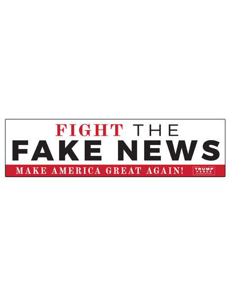 Fight the Fake News Bumper Stickers - Set of 2