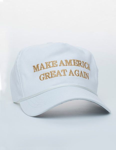 Official Donald Trump Make America Great Again Cap - Gold/White