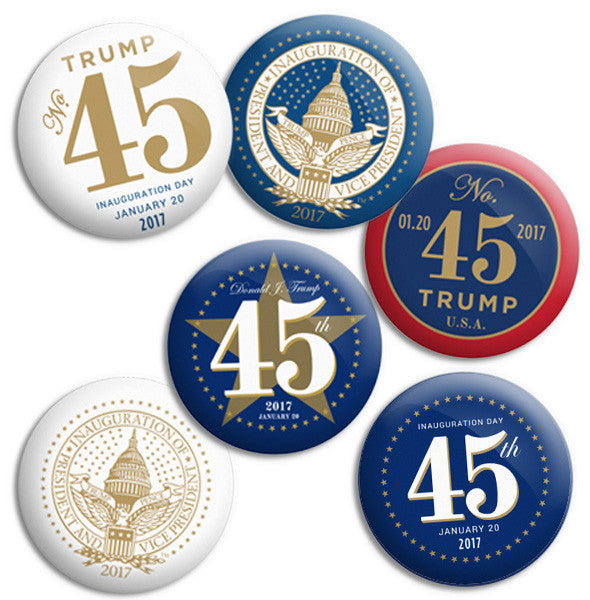 Official Inauguration Presidential Buttons - 3