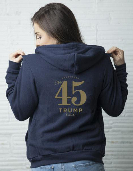 Official 45th President Unisex Hoodie - Navy