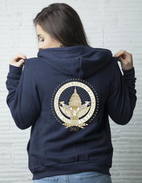 Official Inauguration Seal Unisex Hoodie - Navy