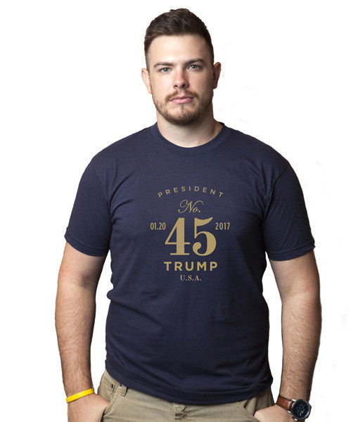 President No. 45 Short Sleeve Tee - Navy