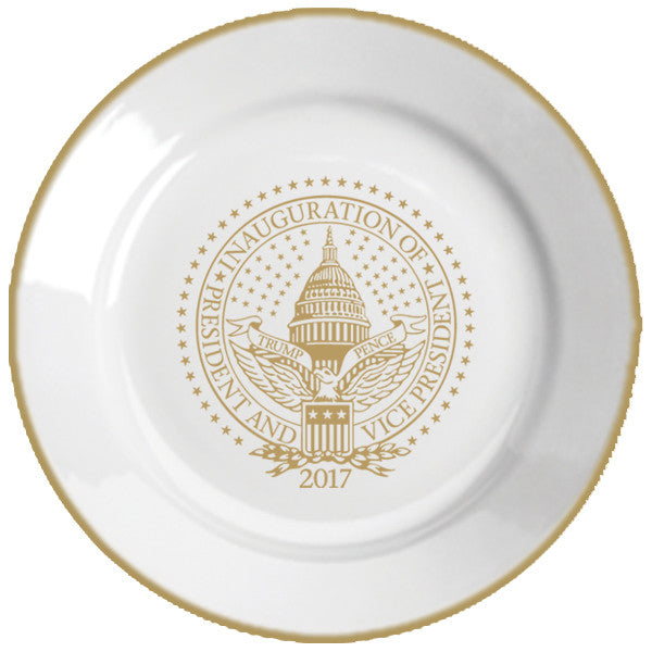 Official Inauguration Commemorative Plate - Gold