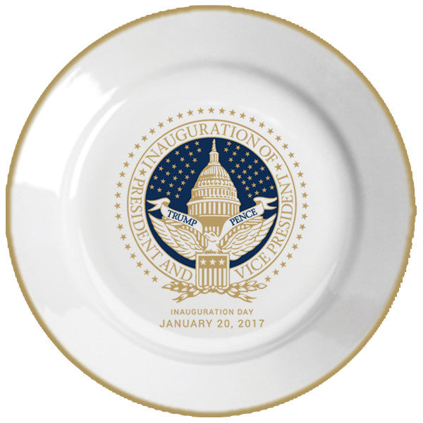 Official Inauguration Commemorative Plate - Navy & Gold