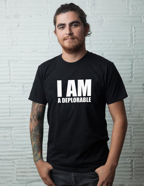 I Am A Deplorable Tee - Black