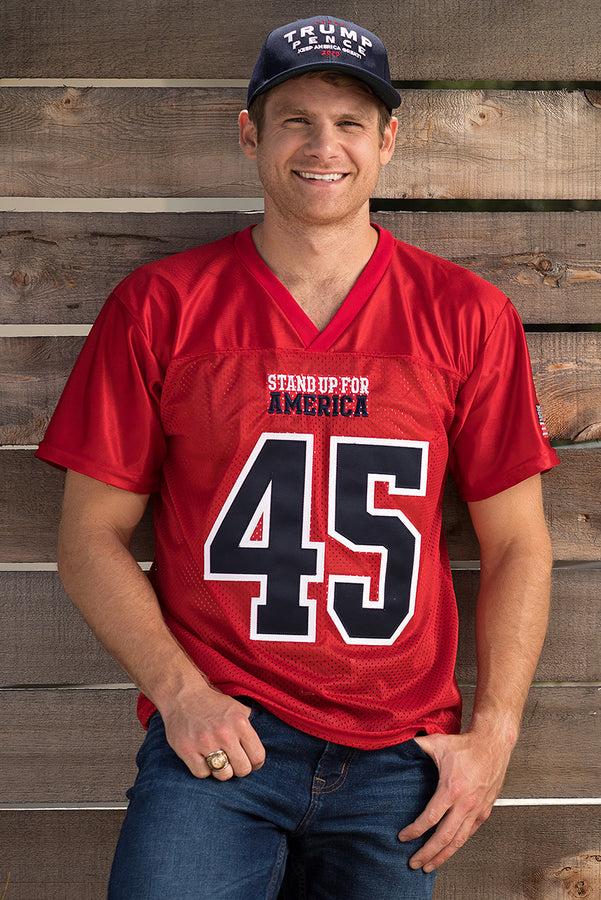 official photos 4d63b 4c638 Stand Up For America Men's Football Jersey – Trump Make ...