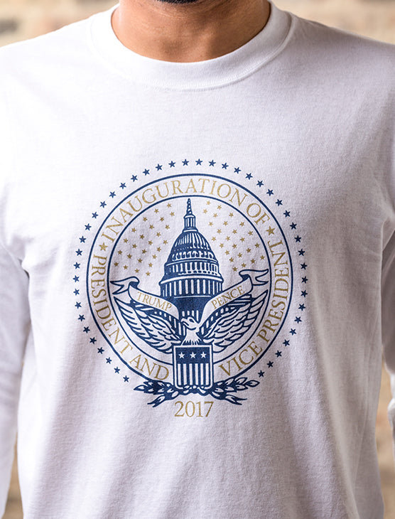 Official Inauguration Long Sleeve Tee - White