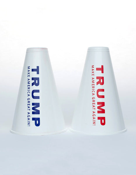 Trump for President Mini Megaphones - Red & Blue - Set of 2