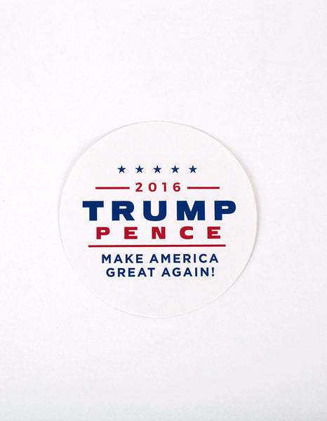 Official Trump-Pence 2016 Campaign Sticker - Pack of 10