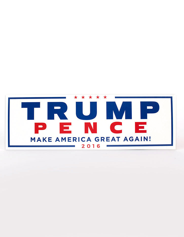 Official Trump-Pence 2016 Bumper Sticker - White - Set of 2