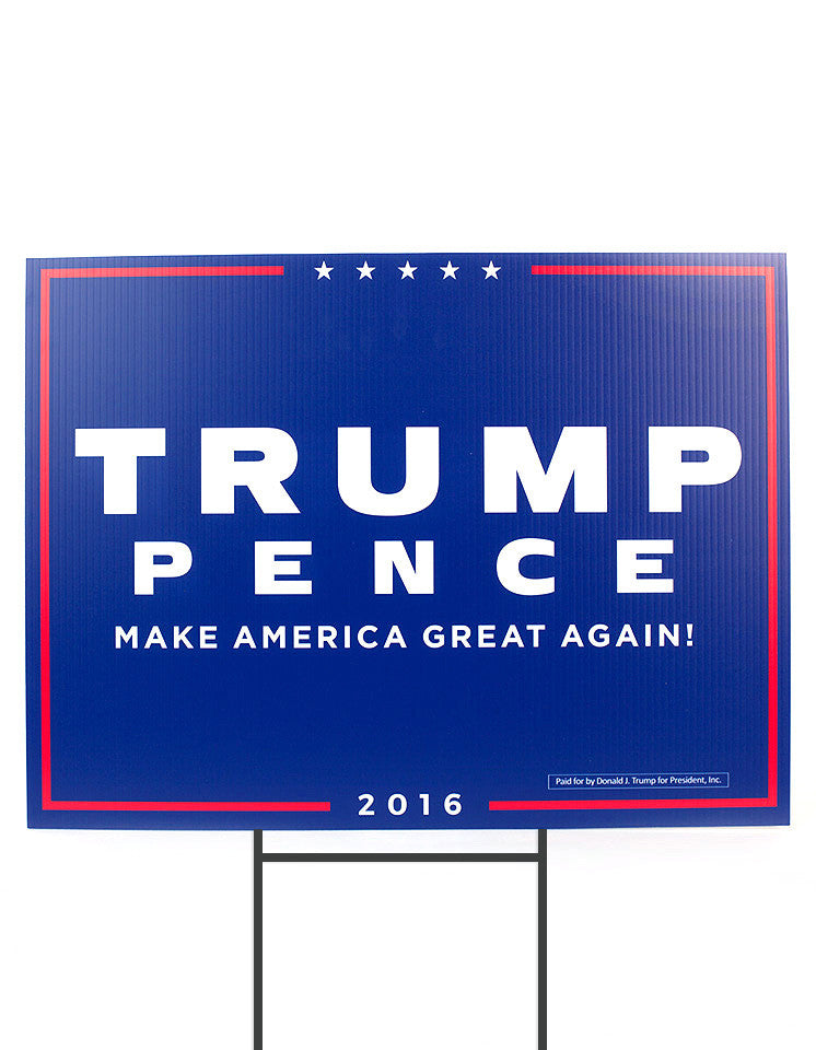 Official Trump-Pence 2016 Yard Sign - Blue - Set of 2