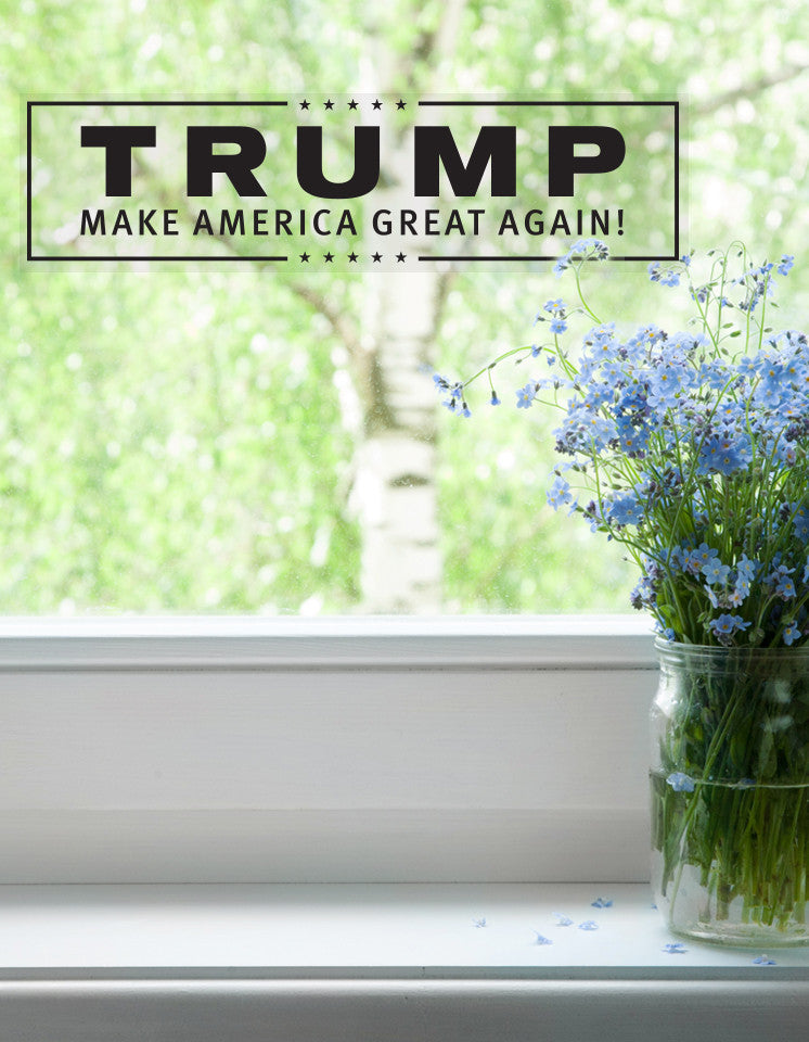 Trump Campaign Window Cling - Black - Pack of 4