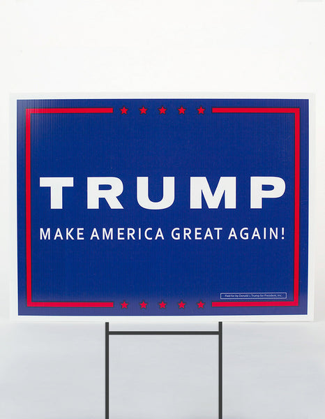 Official Trump Presidential Campaign Yard Sign - Set of 2
