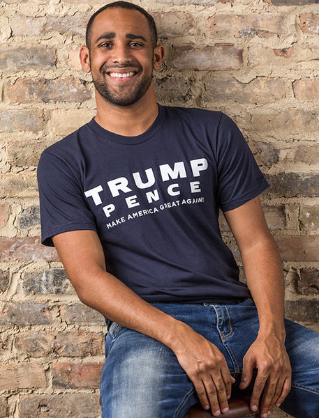 Trump-Pence Make America Great Again Men's Tee - Navy
