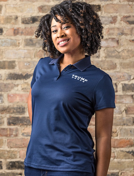 Trump-Pence Women's Dry Wicking Polo – Navy