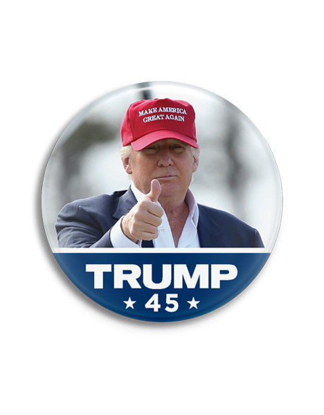 Trump 45 Photo Buttons - Set of 2