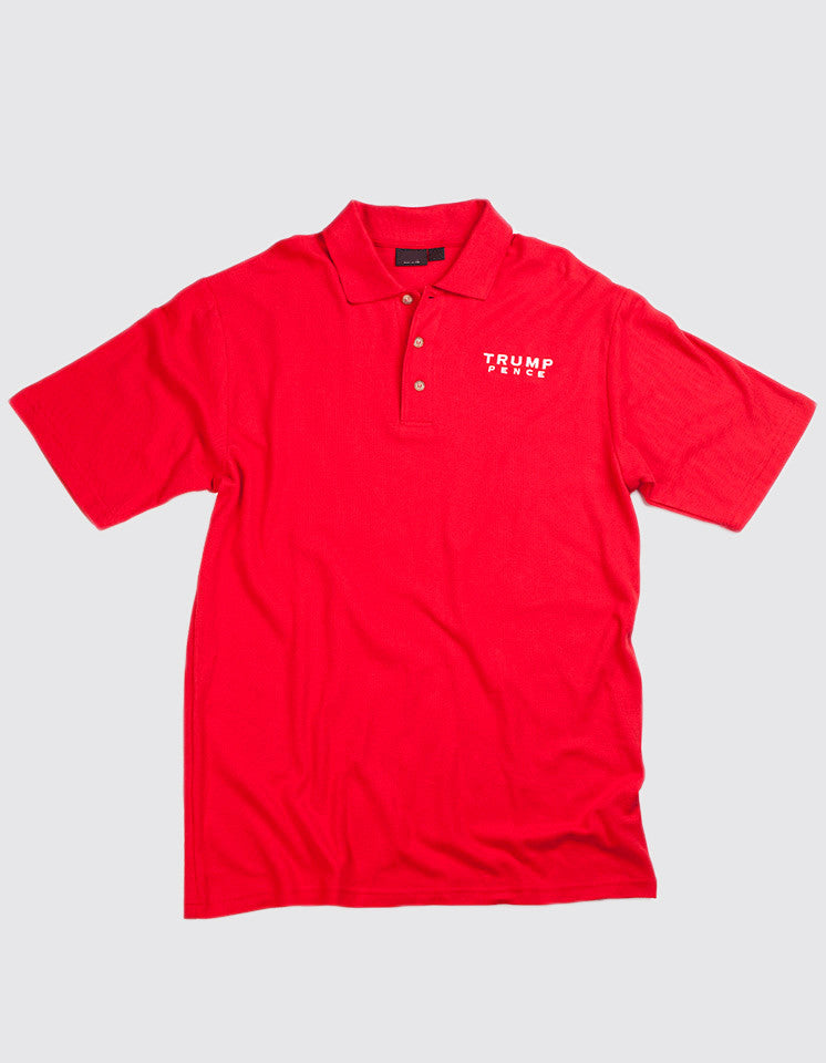 Trump-Pence 2016 Men's Cotton  Polo - Red