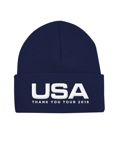 Official USA Thank You Tour Winter Hat - Navy