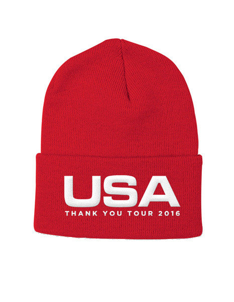 Official USA Thank You Tour Winter Hat - Red