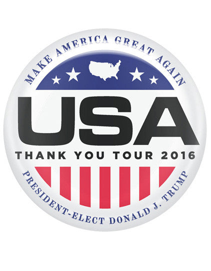 Official USA Thank You Tour 2016 Buttons - Set of 2