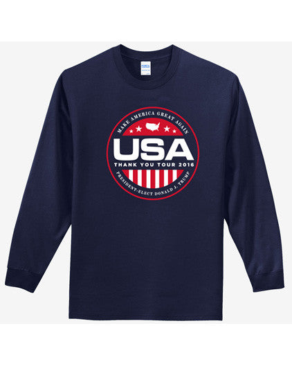 Official USA Thank You Tour 2016 Long-Sleeve Tee - Navy - 2XL