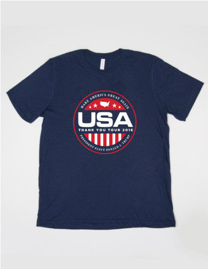 Official USA Thank You Tour 2016 Short-Sleeve Tee - Navy - 3XL
