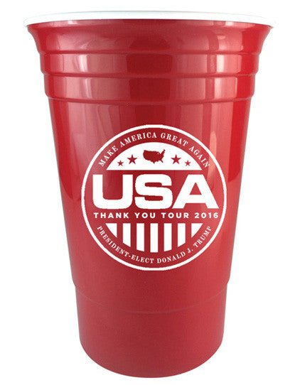 Official USA Thank You Tour 16oz. Cup - Pack of 4