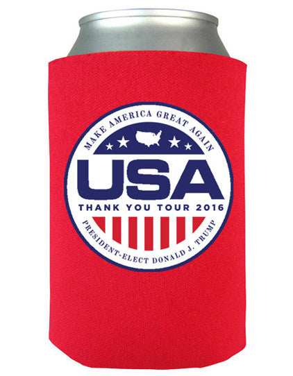 Official USA Thank You Tour Koozie - Red (Pack of 6)