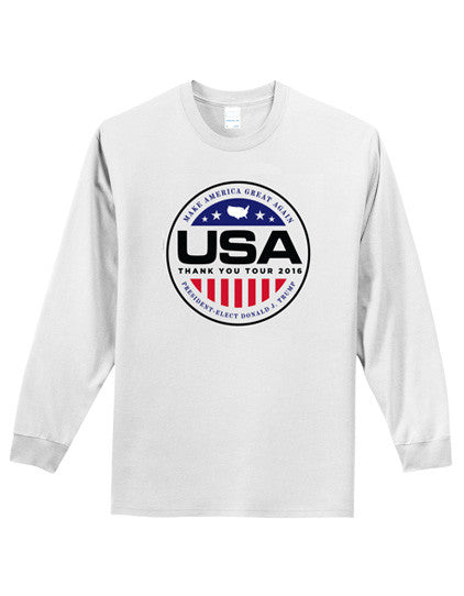 Official USA Thank You Tour 2016 Long-Sleeve Tee - White - Medium