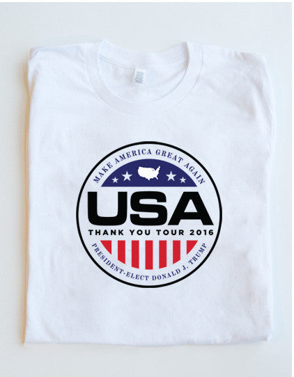 Official USA Thank You Tour 2016 Short-Sleeve Tee - White - 3XL