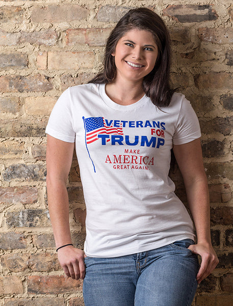 Veterans for Trump Women's Form Fitting Tee
