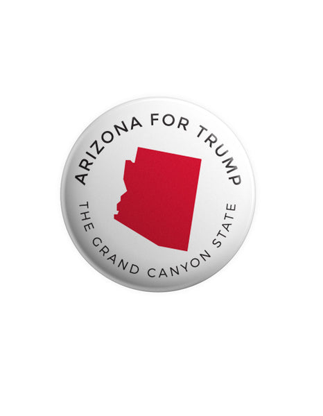 Arizona for Trump Button - White