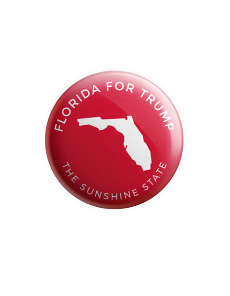 Florida for Trump Button - Red