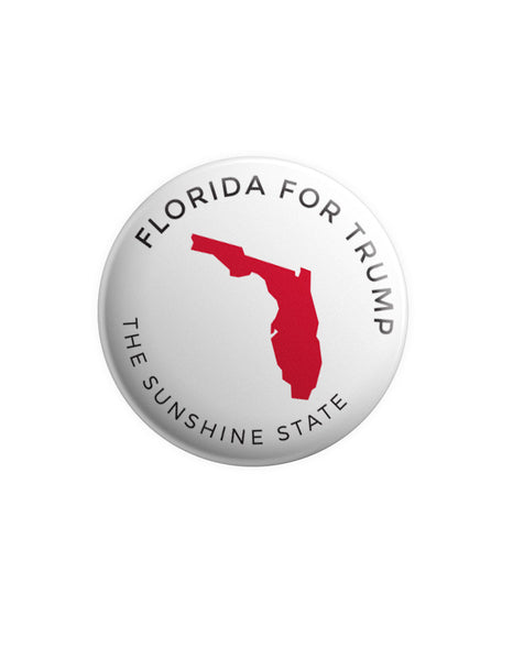 Florida for Trump Button - White