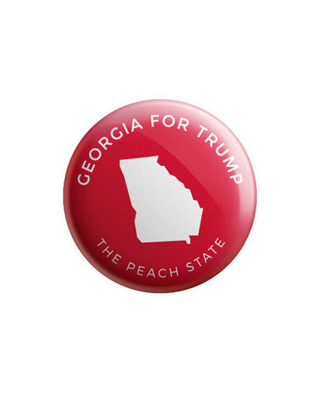 Georgia for Trump Button - Red
