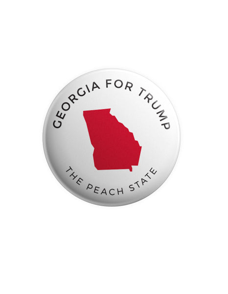 Georgia for Trump Button - White