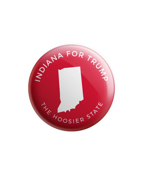 Indiana for Trump Button - Red
