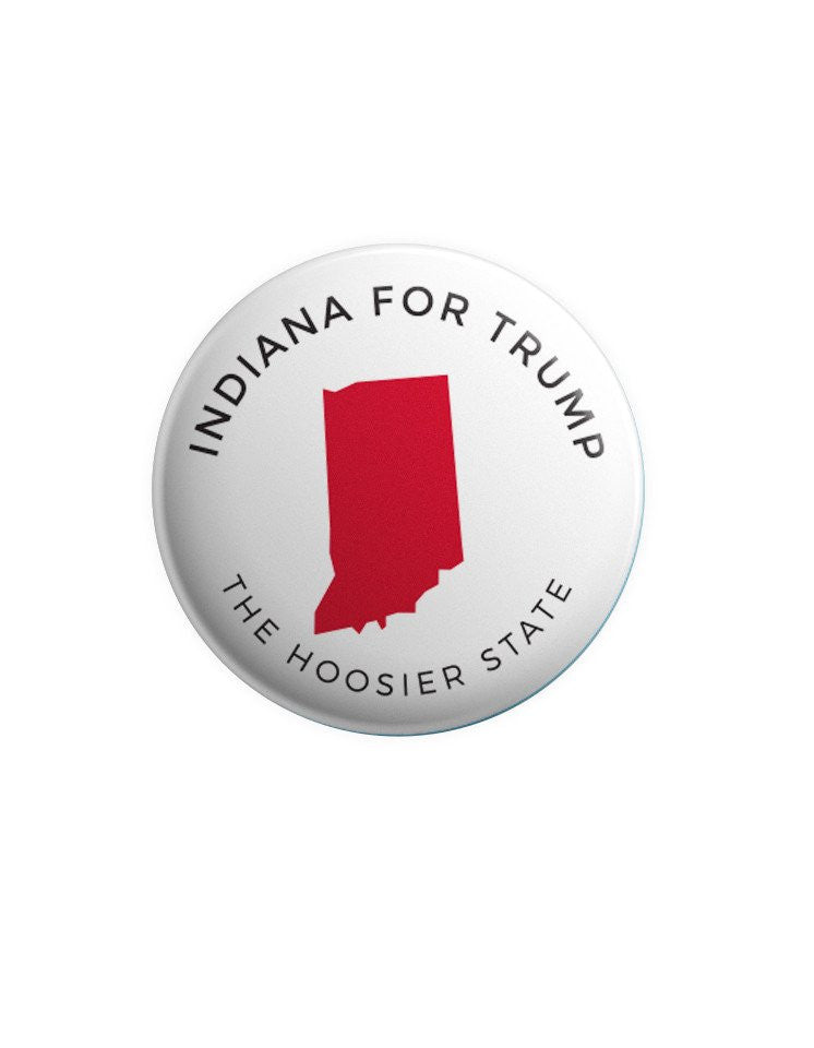 Indiana for Trump Buttons Bundle